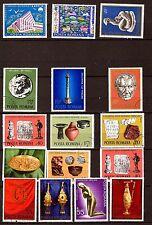 28T1 ROUMANIE 16 timbres oblitérés granf format ,sujets divers