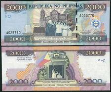 Philippines 2000 Pesos 2001(2012) UNC**New - Commemorative w/ folder (unissued)