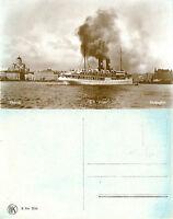 SS RUGEN SWEDISH CRUISE SHIP SEPIA POSTCARD UNUSED c 1930