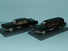 MODIFIED S&S CADILLAC HEARSE with coffin inside & CADILLAC 75 MOURNING CAR BXD