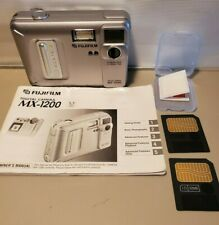 Fujifilm MX-1200 1.3 Mega Pixels f=5.8mm f4.5 Digital Camera Manual 2 Cards