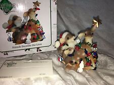 """Charming Tails """"Friends Decorate Our Lives"""" Dean Griff Christmas Reindeer Nib"""