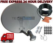 Complete MK4 Satellite Dish Kit + Sky HD Quad LNB & 20m Twin Black Coax Cable