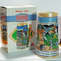 Budweiser Sports Stein 1990 Favorite Pastime CS124 Limited Edition With Box