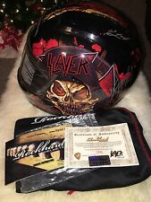 Slayer Signed RockHard Motorcycle Full Face Helmet Medium W/ COA Limited to 50!!