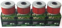 4 Pack HiFlo HF113 Oil Filter Honda TRX Rancher Foreman FourTrax ATC FREE SHIP