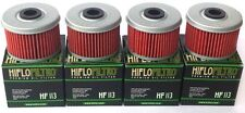 4 Pack HiFlo HF113 Oil Filter Honda TRX Rancher Foreman FourTrax ATC FREE SHIP