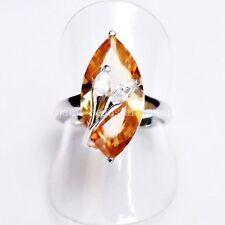 Echte Edelstein-Ringe mit Citrin und Marquise/Navette für Damen
