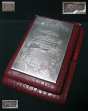 50s Moscow Bolshoi Theater SILVER plaque 875 cover fornotepad Soviet Russia USSR