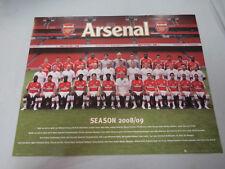 #BW8.  ARSENAL  FOOTBALL CLUB  POSTER - 2008/09 SEASON