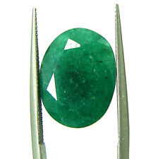 6.61 Ct Certified Natural Green Emerald Loose Gemstone Oval Cut Stone - P111788