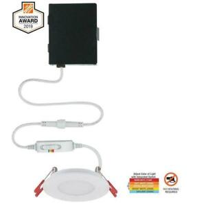 """Commercial Electric Ultra Slim 3"""" Color Selectable Canless Recessed LED Kit"""