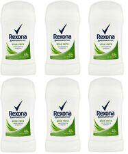 6x Rexona Aloe Vera Anti-perspirant Deodorant Solid Stick for Women 6x40ml