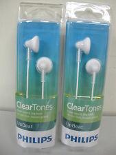 2 x Philips SHE 3010WT Earbuds-Earphones-Headphones White