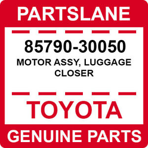 85790-30050 Toyota OEM Genuine MOTOR ASSY, LUGGAGE CLOSER