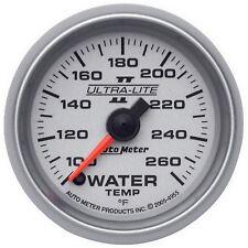 "AutoMeter 4955 Ultra-Lite II Electric Water Temp. 100-260 Deg. Gauge 2-1/16"""