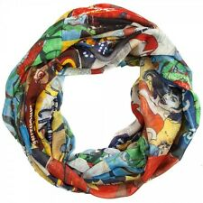 DC Comics Bombshell Sublimated Wonder Woman Harley Quinn Infinity Scarf Scarves
