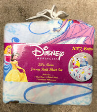 disney princess cotton 3 piece twin sheet set