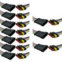 10Stk 5-Polig Kabel Set KFZ Steckverbinder Stecker Wasserdicht Steckverbindung