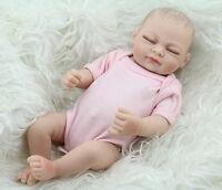 Newborn Baby Vinyl Silicone Realistic Reborn Dolls Girl Handmade Real Looking