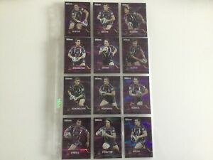 NRL TRADERS 2013 MELBOURNE STORM 12 CARD PARALLEL SET TRADING CARDS RUGBY LEAGUE