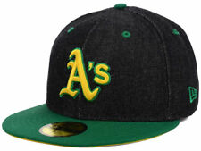 Oakland Athletics New Era MLB Black Denim 59FIFTY Cap Size 7 5/8