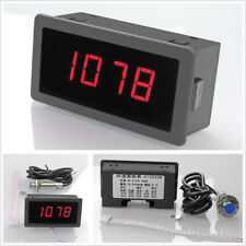 4 Digital LED Tachometer RPM Speed Meter 10-9999RPM+Hall Proximity Switch Sensor