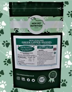 120 Green Lipped Mussel New Zealand 500MG+ Ultra Capsules Joint Care Dogs, Cats