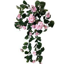 Geranienhänger 80cm rosé rosa Hänger künstliche Geranie 30583   echt wirkend !