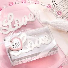 LOVE BOOKMARK Silver Metal Book Mark Heart Birthday Party Valentine's Read Gift