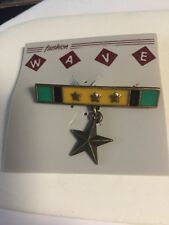 JJ JONETTE SIGNED MILITARY MEDAL BROOCH PIN New Old Stock RAREST