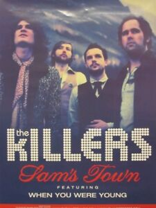 The Killers 2006 Sam's Town 2 Sided promotional poster Very Good New Old Stock