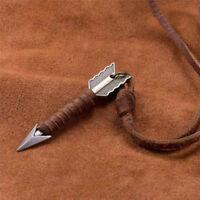 Unique Creative Arrow Pendant Unisex Retro Long Chain Leather Rope Necklace HotO