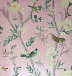 Next Oriental Garden Pink Wallpaper Paste the Wall (Same Batch) FREE DELIVERY