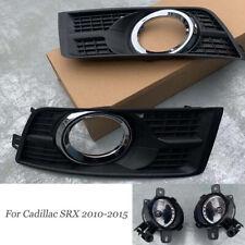 For Cadillac SRX 2010-2015 Fog Light Grille Bumper Cover Grilles W/Fog Lights