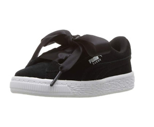 PUMA Kids' Suede Heart Ps-K Sneaker, Color Options