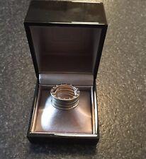 BVLGARI 18K White Gold Mens RingB-zero1 Ring #61 (US size 9 1/2)