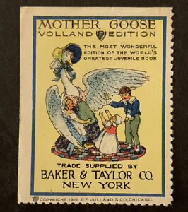 P556 US Poster Stamp Cinderella 1915 Mother Goose Volland Edition MNH Gr. Coll