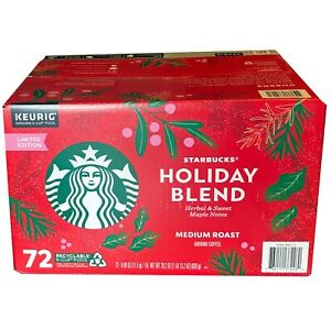 🔥Starbucks Holiday Coffee Blend 72 k-cups  - Edition 2021  exp 04/2022🔥