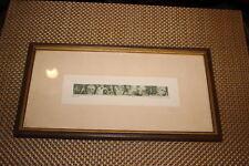 Vintage Woodblock Print Signed Tiemec-1969-Old Faces Of People-Framed-Miniature