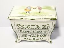 1905 Huntley Palmer Biscuit Pottery Casket Nursery Rhyme My Pretty Maid