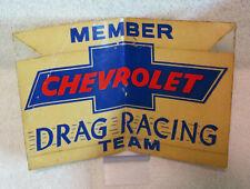 RARE VINTAGE ORIGINAL - CHEVROLET DRAG RACING TEAM - Large Sticker - WOW!