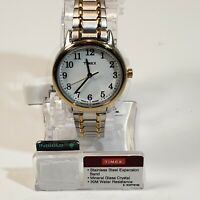Timex 2P78700WF Perfect Fit Easy Reader Stainless Steel Expansion Band - Women