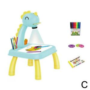 LED Projector Educational Painting Table Toy Desk Learning Tools Toy for Kids