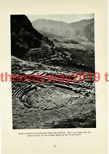 Oracle of Delphi, Theatre View, Greece, Book Illustration (Print), 1935