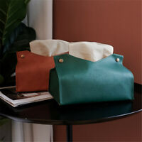 New Napkin Tissue Holder Nordic Leather Tissue Box Paper Dispenser Tissue Holder