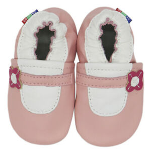 carozoo Mary Jane pink 6-12m soft sole leather baby shoes