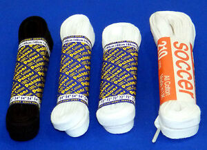 Patons Cotton Laces Black White Flat 140 180 210cm Football Boots Sports Shoe