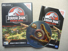 JURASSIC PARK OPERATION GENESIS PC CD-ROM MINT DISC!  Complete with Manual!