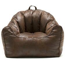 Big Joe Large Hug Bean Bag Chair Double Zippers Espresso Comfortable